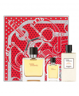 Hermes Terre d'Hermes Zestaw Pure Parfum 75ml EDP + 12,5ml EDP + After Shave 40ml
