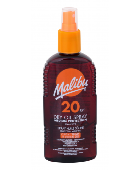 Malibu Dry Oil Spray Medium Protection Olejek do Opalania SPF 20 200 ml