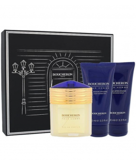 Boucheron  Boucheron Pour Homme Zestaw Woda Perfumowana 100 ml + After Shave Balm 100 ml + Shower Gel 100 ml