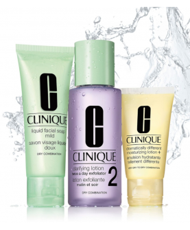 Clinique 3-Step Skin Care 2 Zestaw 3 Kroki 100 ml + 50 ml + 30 ml