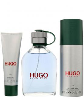 Hugo Boss Hugo Man  Woda Toaletowa 125 ml + Dezodorant 150 ml +  Żel 50 ml Zestaw