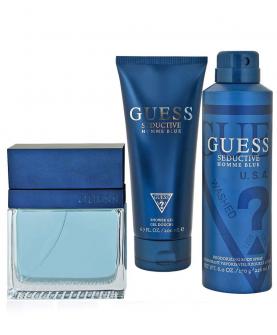 Guess Seductive Homme Blue EDT 100 ml + Żel 200 ml + Dezodorant 226 ml Zestaw