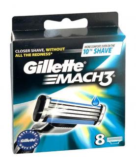 Gillette Mach3 Wkłady do Maszynki 8 szt