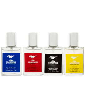 Ford Mustang Collection Woda Toaletowa Classic 15 ml + Sport 15 ml  + Performance 15 ml + Blue Cologne 15 ml Zestaw