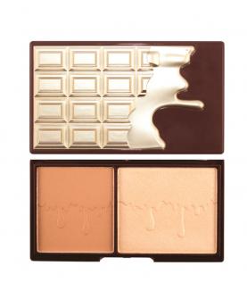 Makeup Revolution London Mini Chocolate Bronze & Glow Paleta do Konturowania 11 g