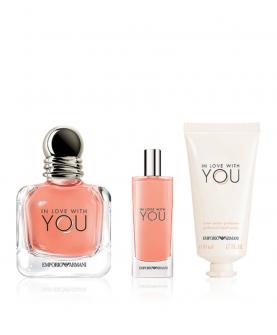 Giorgio Armani Emporio Armani In Love With You Woda Perfumowana 100 ml + EDP 15 ml + Krem do Rąk 50 ml Zestaw