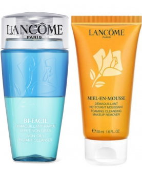 Lancome Bi-Facil Dwufazowy Płyn do Demakijażu 75 ml + Pianka Miel-En-Mousse 50 ml