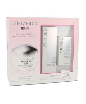 Shiseido Ibuki Zestaw Krem do Twarzy Na Dzień 50 ml + Pianka do Mycia Twarzy 30 ml + Mleczko do Twarzy 15 ml